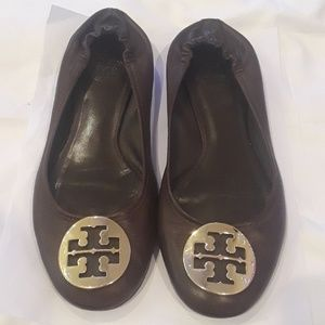 Tory Burch leather upper flat size 8 1/2